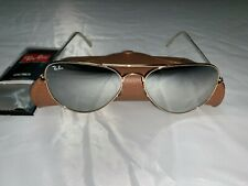 Ray-Ban Aviator Sunglasses RB3025 58mm 001/30 Gold Frame with Silver Mirror Lens