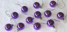 Purple Mini Ornaments Christmas Shatterproof Balls Shiny Miniature Tree Feather