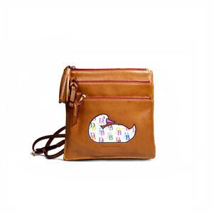 NEW DOONEY BOURKE FLORENTINE Handbag TRIPLE ZIP Crossbody Organizer Purse *PRIMO