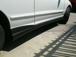 For 94-01 Acura Integra Type-R Style side skirt ABS Plastic Black Unpainted