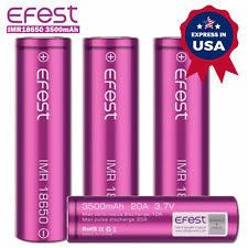 Efest IMR18650 3500mAh 20A 3.7V Top HIGH DRAIN Battery 1/2/4PCS Express In US