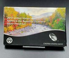 2013 S US Mint America Beautiful Quarter Proof SILVER ATB 5 Coin Set Box COA OGP
