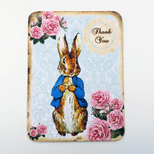 NEW Peter Rabbit Thank You Vintage Blank Note Cards Set Children of 6- Envelopes