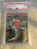2014 Topps Finest George Springer #39 PSA Graded 9 Mint