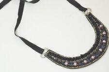 Antique Vintage Hand Made Beads Rhinestones Collar/Necklace
