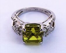 Peridot White Gold Ring Vintage & Antique Jewellery
