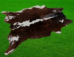 """New Cowhide Rugs Area Cow Skin Leather 16.33 sq.feet (49""""x48"""") Cow hide A-8927"""