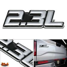 """2.3L"" Polished Metal 3D Decal Silver&Black Emblem For Mercury/Fiat/Ford/Saab"