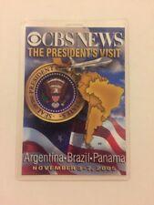 2005 President George W. Bush CBS News Press Pass Visit Argentina Brazil Panama