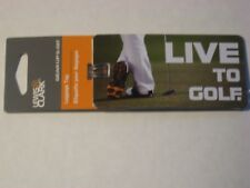 New Lewis N Clark Luggage Tag Brief Case ID Live To Golf Theme Travel Strap Tags