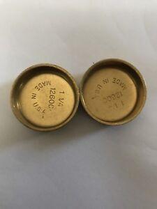 "1-1/4"" Pioneer Brass Freeze Plug Qty: 2 - Made in USA"