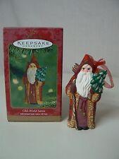 Hallmark Ornament 2001 OLD WORLD SANTA NEW Tree Cane Toys Gifts Age