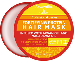 Fortifying Protein Hair Mask and Deep Conditioner with Argan Oil and Macadamia O