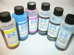 GENUINE OCP INK COMPATIBLE WITH CANON PGI 550 CLI 551 + GREY + EXTRA PIG BLACK