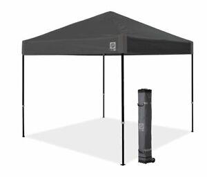E-Z UP VANTAGE 3 x 3 BLACK POP UP SHELTER WITH SIDE WALLS