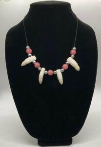 Alligator Tooth Necklace / Louisiana Alligator Taxidermy Jewelry Art