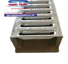 CANALETTA CANALE DI SCOLO IN POLIMERICO H 65X127X1000 C/GRIGLIA COMPONIBILE