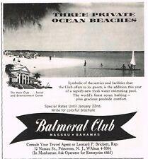 1960 BALMORAL CLUB Nassau Bahamas Beach Resort Travel Tourism VTG Print Ad