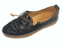 Manitu Soft Damen Schuhe Slipper Halbschuh Mokassin 840795-1 schwarz Leder