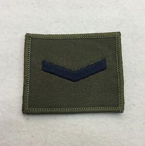 Lance Corporal Rank Badge, Olive Green & Black, LCpl Combat Patch, Hook & Loop