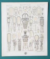 EGYPT Utensils Various Vases Amforas - TINTED Litho Print A. Racinet