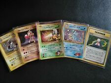 Carte pokémon lot de 5 holos gym series Japanese wizards