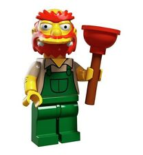 Lego Groundskeeper Willie - Simpsons -Series 2 Mini-figures -71009 -RETIRED LEGO