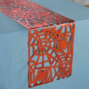 SPIDER-MAN Webbed Wonder RED FOIL TABLE RUNNER DECORATION ~ Birthday Party Red