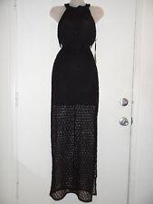 Forever 21 S Black Dress Vintage Boutique Crochet High Slit Side Cut Out Summer