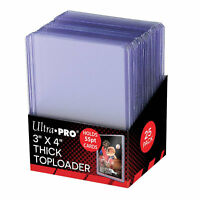 """Ultra Pro 3"""" x 4"""" 55pt Thick Top Loader Card Protectors - Packet of 25"""