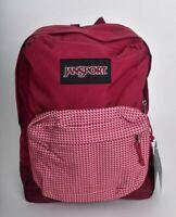 Jansport Black Label Superbreak Red Combo Backpack Bookbag New Boys Girls
