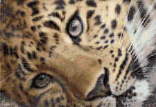 Prudence the Leopard Counted Cross Stitch Kit Wildlife Big Cats Animals