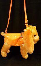 Poochie & Co Sequin Metallic Orange Puppy Dog Girl's Purse VERY CUTE!