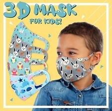 4Pack Boys Face Mask Kids Toddler Reusable Washable Protection Cover Breathable