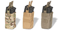 ATS Tactical MOLLE 556 Double Stacked Shingle Mag Pouch-Multicam-Coyote-RG-Black