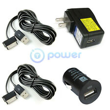 6ft long Wall USB Adapter+Car Charger for Samsung Galaxy Tab 7.0 8.9 10.1 Inch