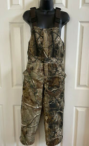 REDHEAD Bib Overalls Camo Realtree Hunting Pants Insulated Youth Med