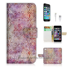 ( For iPhone 6 / 6S ) Wallet Case Cover! Vintage Damask P1401