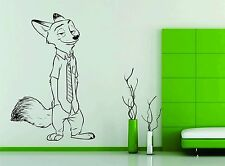 Wall Sticker Decal Vinyl Decor Nick Wilde Zootopia Cartoon Kids Toy