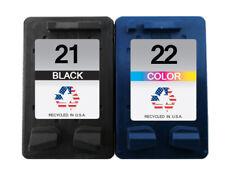 2 PK for HP 21 22 Ink Cartridges for Deskjet 3910 OfficeJet J3635 PSC 1403 1408