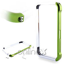Bumper Aluminio Vapor 4 para iPhone 4S  Verde y Plata a552