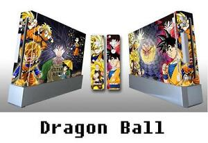 Skin Sticker Cover For NintendoWii Console and 2 Remotes DRAGON BALL 040