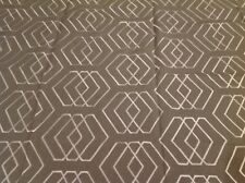 Lee Jofa / Groundworks- Embroidered Linen Geometric- Kyoto Shrine/Pewter- 1.0 yd