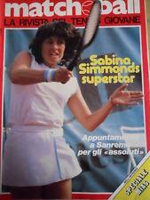Matchball 18 1982 Sabina Simmonds superstar