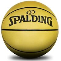 Spalding Gold 8 Panel Basketball In Size 7 Indoor/Outdoor Ball