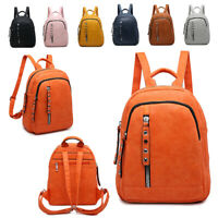 Ladies Zip Rucksack Girls College Backpack School Shoulder Bag Handbag MA36030