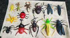 13 Lot Plastic Bugs Cicada Scorpion Ladybug Grasshopper praying mantis spider