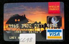 Wells Fargo Bank 1998 Vintage Collectors Visa Credit Card