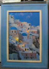 Framed Greek Print Aegean Diary Santorini 70x60cm Yiorgos Depollas