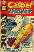 Casper Space Ship #1 High Grade First Issue Harvey  Comic 1972 VF+